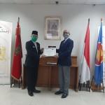 Ambassador of the Kingdom of Morocco to Indonesia, Mr. Ouadia Benabdellah, please grant the certificate
